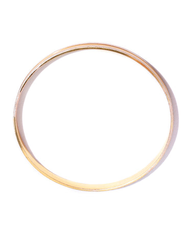 Set Of 4 Gold-Plated Dual Tone Textured Bangles