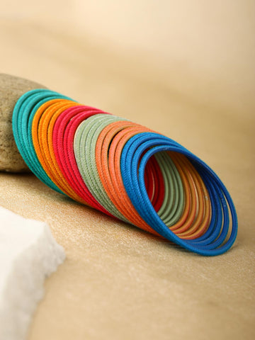 Set of 24 Multi-Color Bangles