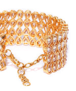 Priyaasi Party Wear Gold Plated Tear Drop Shape Bracelet For Women And Girls