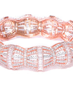 Rose Gold-Plated American Diamond Kada Bracelet