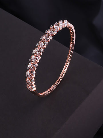 Rose Gold-Plated American Diamond Bracelet