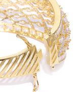 Priyaasi Gold-Plated American Diamond Studded Kada Bracelet