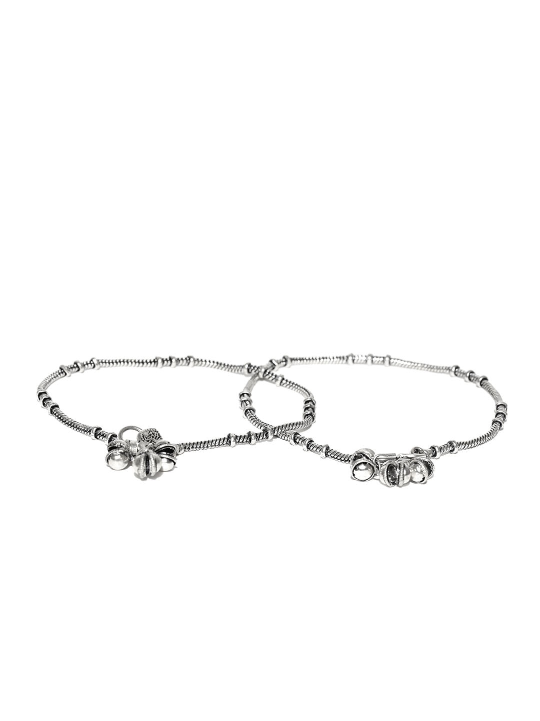 Oxidised Silver-Toned Anklets For Women And Girls