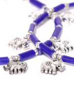 Designer Blue Elephant Set Of 2 Anklet/Payal