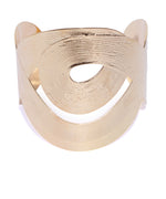 German Silver Gold Plated Hand Cuff Bracelet For Girls And Women