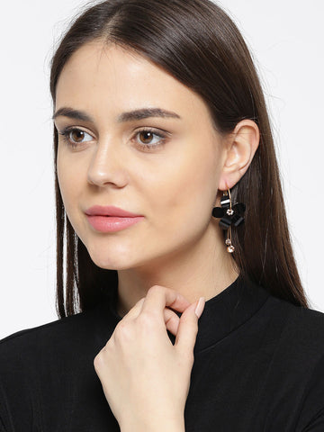 Designer Classy Floral Elegant Drop Earrings