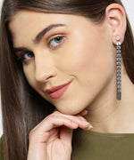 Prita Gunmetal-Plated Tasselled Drop Earrings
