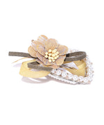 Prita Girls Handmade Floral Hair Clip With Beads