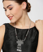 Priyaasi's Antique Germansilver/Oxidized Silver Contemporary Ginni Necklace For Girls and Women