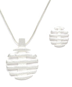 Prita Silver-Plated Pendant Set with Chain