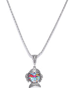 Prita Multi Colour Fish Design Simple & Classy Chain Pendent For Women/Girls