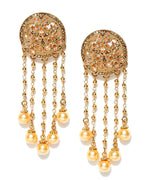 Priyaasi's Party Wear Pearl Gold Plated Pearl Earrings For Girls and Women