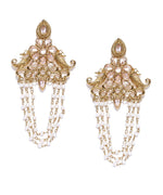 Priyaasi's Kundan Pearl Dangler Earrings
