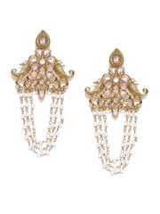 Kundan Pearl Dangler Earrings