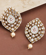 Priyaasi Geometric Shaped Gold plated Blue Stud Earring For Women And Girls
