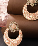 Priyaasi Designer Gold Plated Peach Colour Chandbalis Drop Earrings For Women and Girls