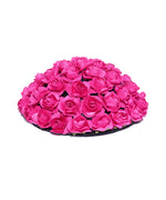 Designer Pink Roses Flower Design Bun Maker Hair Accessories For Women