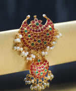 Gold Plated Ruby & Emerald Studded Bun Pin/Hair Accessory
