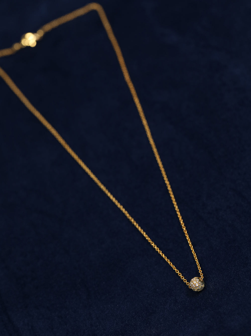 Gold-Plated American Diamond Studded Mangalsutra