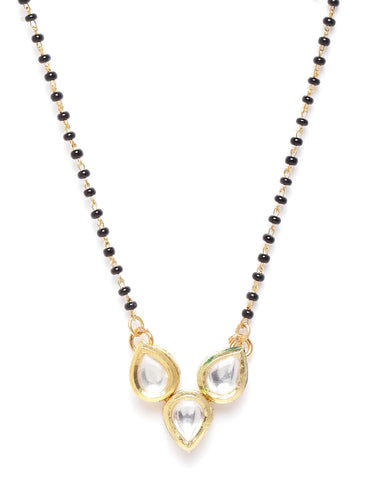 Gold-Plated Kundan Studded Mangalsutra