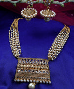 Priyaasi Gold-Plated Stones Studded Jewellery Set in Pearls Drop