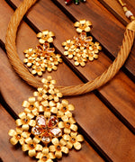Priyaasi's Gold-Toned Embellished Stone jewellery Set