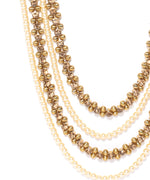 Priyaasi Gold-Plated Long Jewellery Set and Mangtika in Pearls