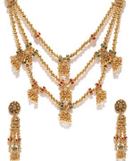 Priyaasi Gold-Plated Multi-Strand Jewellery Set
