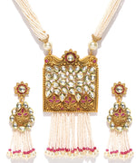 Priyaasi's Maat Finish Kundan Pearl Necklace Set