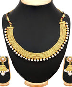 Priyaasi Gold Plated Pearl Studde Necklace Set