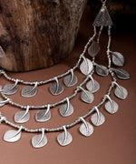 Priyaasi German Silver Leaf Design Necklace