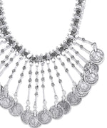 Priyaasi German Silver Coin Necklace