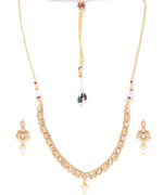 Priyaasi Kundan Pearls Beads Gold Plated Jewellery Set