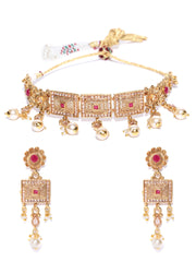 Ruby Pearls Kundan Gold Plated Choker