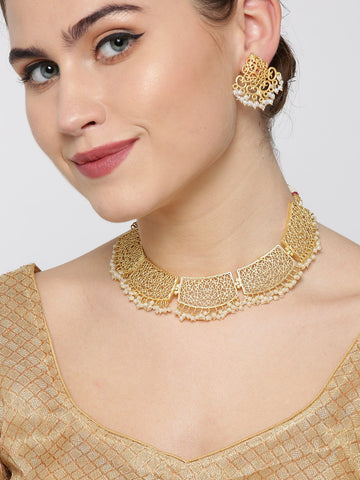Beads Gold Plated Jewellery Set