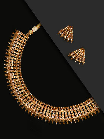 Gold Plated Traditional Jewellery Set