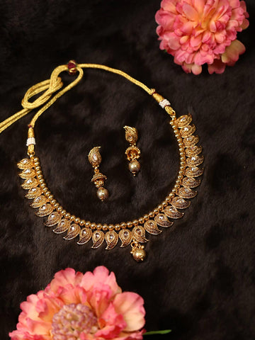 Kundan Beads Gold Plated Jewellery Set