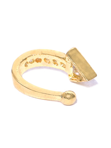 Designer Gold Plated Textured Nosepin For Women And Girls