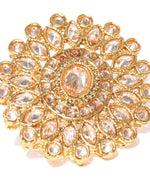 Priyaasi Gold-Plated Stones Studded Adjustable Ring