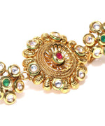 Gold Plated Kundan Double Ring