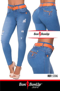 BON BON UP BOOTY🍑 LIFTING COLOMBIAN JEANS REF; 5306