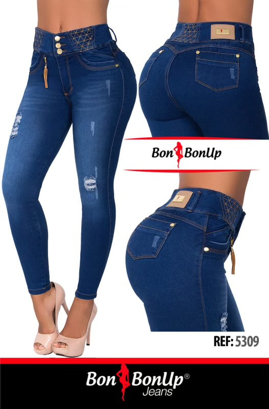 BON BON UP COLOMBIAN  BOOTY🍑 LIFTING JEANS REF; 5309