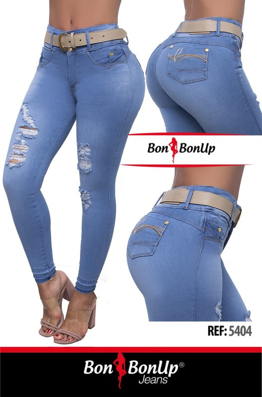 BON BON UP BOOTY 🍑 LIFTING JEANS ,JEANS 100% COLOMBIANOS LEVANTA COLA REF; 5404