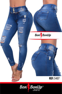 BON BON UP BOOTY LIFTING JEANS ,JEANS LEVANTA COLA 100% COLOMBIANOS REF; 5407