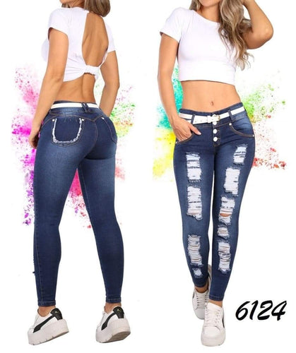 MC 100% BOOTY LIFTING JEANS REF; 6124