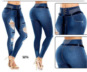 Booty 🍑 Lifting Jeans - Control Abdomen - High Rise - REF: 56714