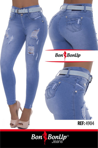 Colombian Booty Lifting Jeans BonBonUp Ref; 4904
