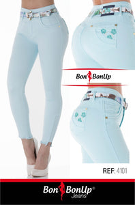 Bon Bon Up Booty 🍑 Lifting Jeans -Levanta Cola Ref; 4101