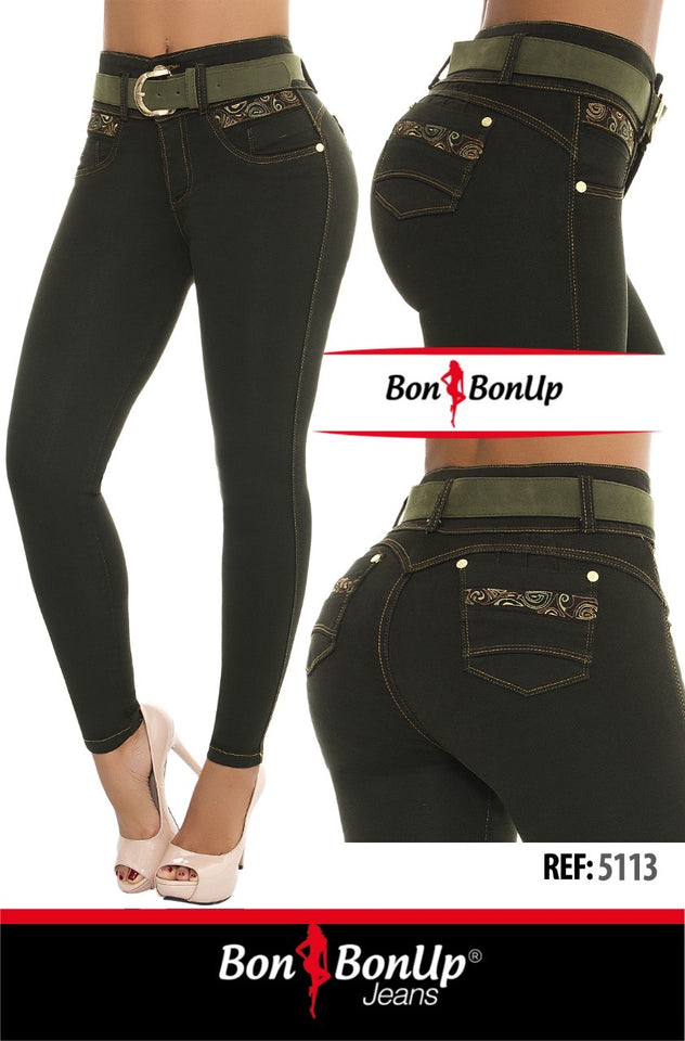 5113 Bon Bon Up Jeans - 100% Stretchy Colombian Bootylifters