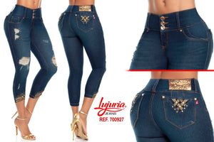 Colombian Booty🍑 Lifting Capri Jeans - Lujuria Ref: 700927